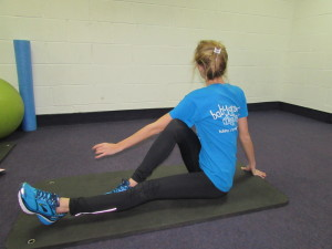 Seated Twisted Gluteal Stretch